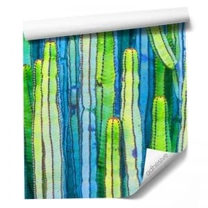 Custom fabric based adhesive wallpaper