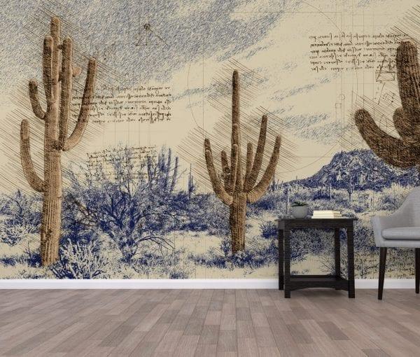 Wallpaper Mural - Davinci Desert Custom Arizona Themed Wallpaper
